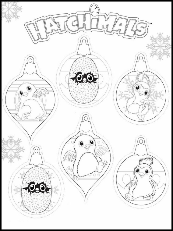 Coloriage Hatchimals 1