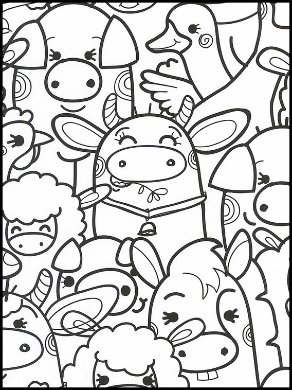 Coloriage Kawaii 21