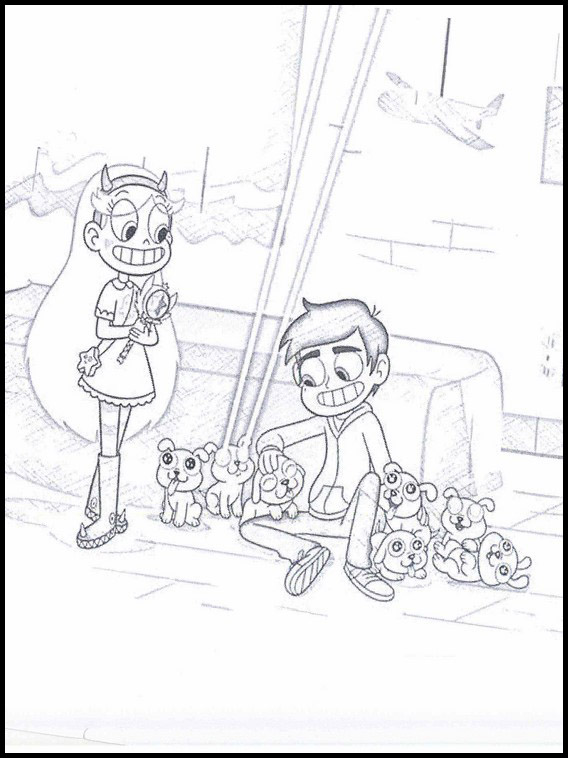 Coloriage Star Butterfly 1