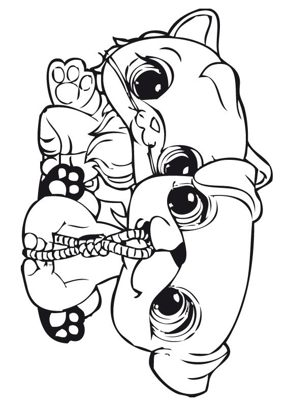 Coloriage littlest pet shop 21 - Dessin a colorier petshop ...