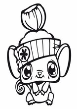 Coloriage littlest pet shop l0 - Coloriage lps ...