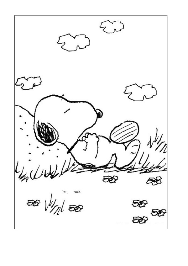 coloriage snoopy 11