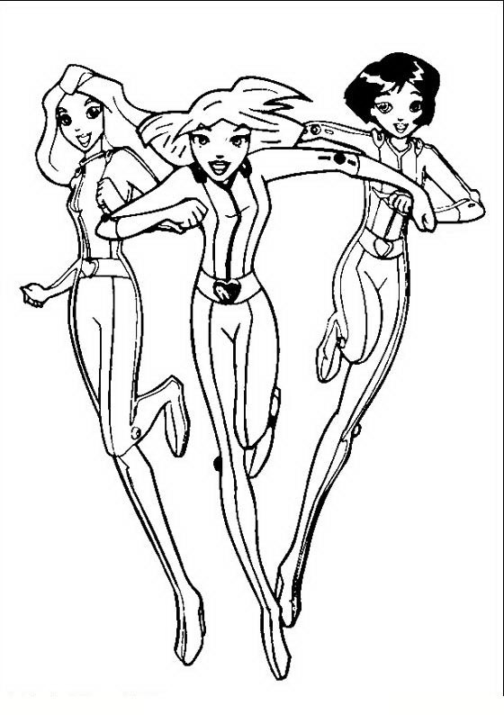 Coloriage A Imprimer Totally Spies.Dessin De Totally Spies 2