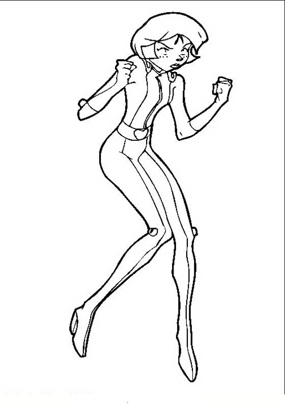 Coloriage A Imprimer Totally Spies.Coloriage Totally Spies A Imprimer 9